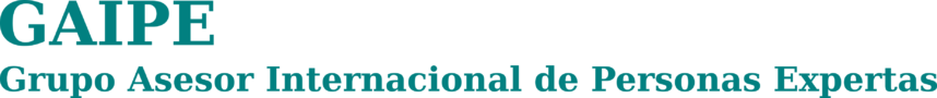 GAIPE Grupo Asesor Internacional de Personas Expertas